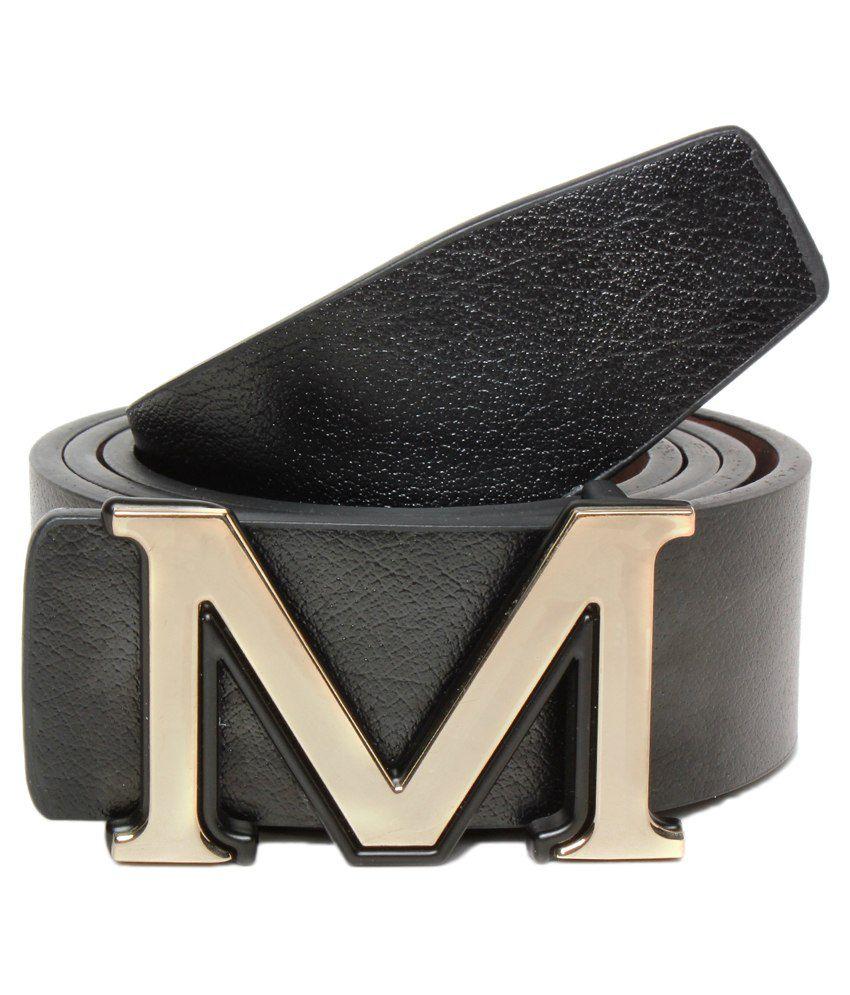 Brc Black Leather Belt