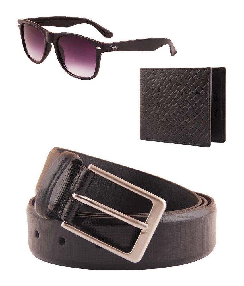 Fastfox Combo of Stylish & Trendy Belt, Wallet And Wayfarer