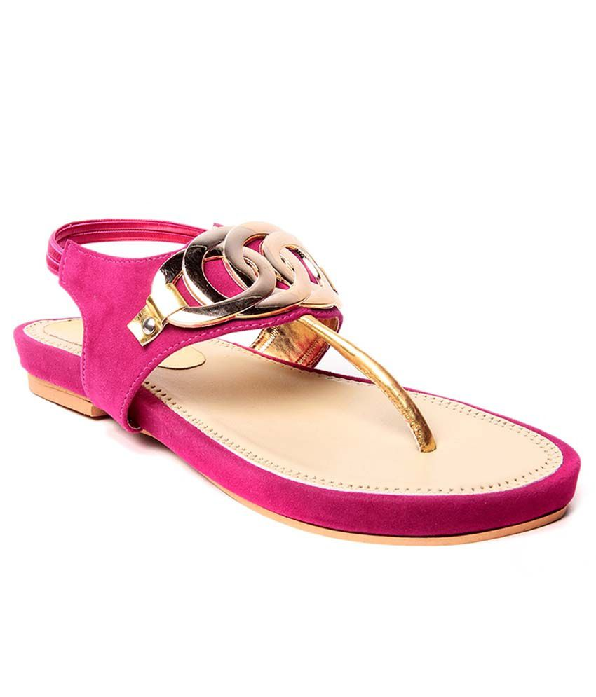 Royal Footwears Pink Sandals