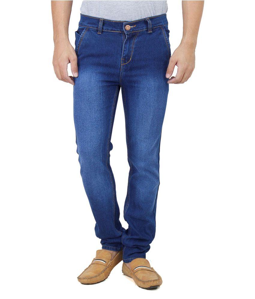 Ansh Fashion Wear Fashion Wear Blue Slim Fit Jeans