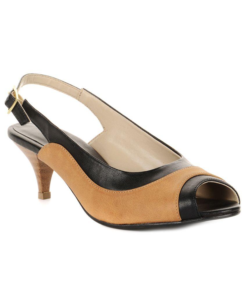 Bruno Manetti Black Cone Heels