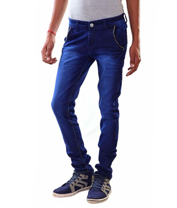 Dekodeal-Blue-Slim-Fit-Stretchable-Denim-Jeans