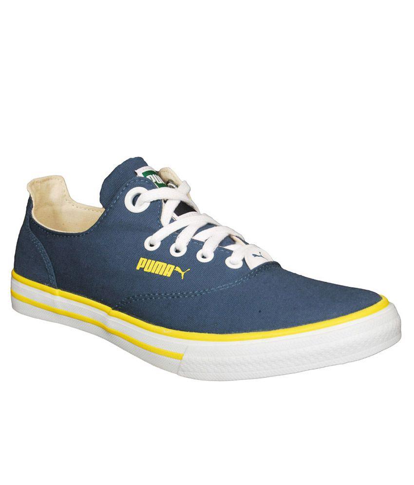 edb25e4bc8a Puma Navy Canvas Shoes - Buy Puma Navy Canvas Shoes Online at Best ...