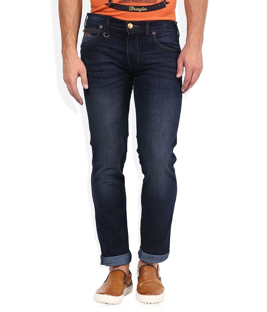 Wrangler Blue Regular Fit Traveler Jeans