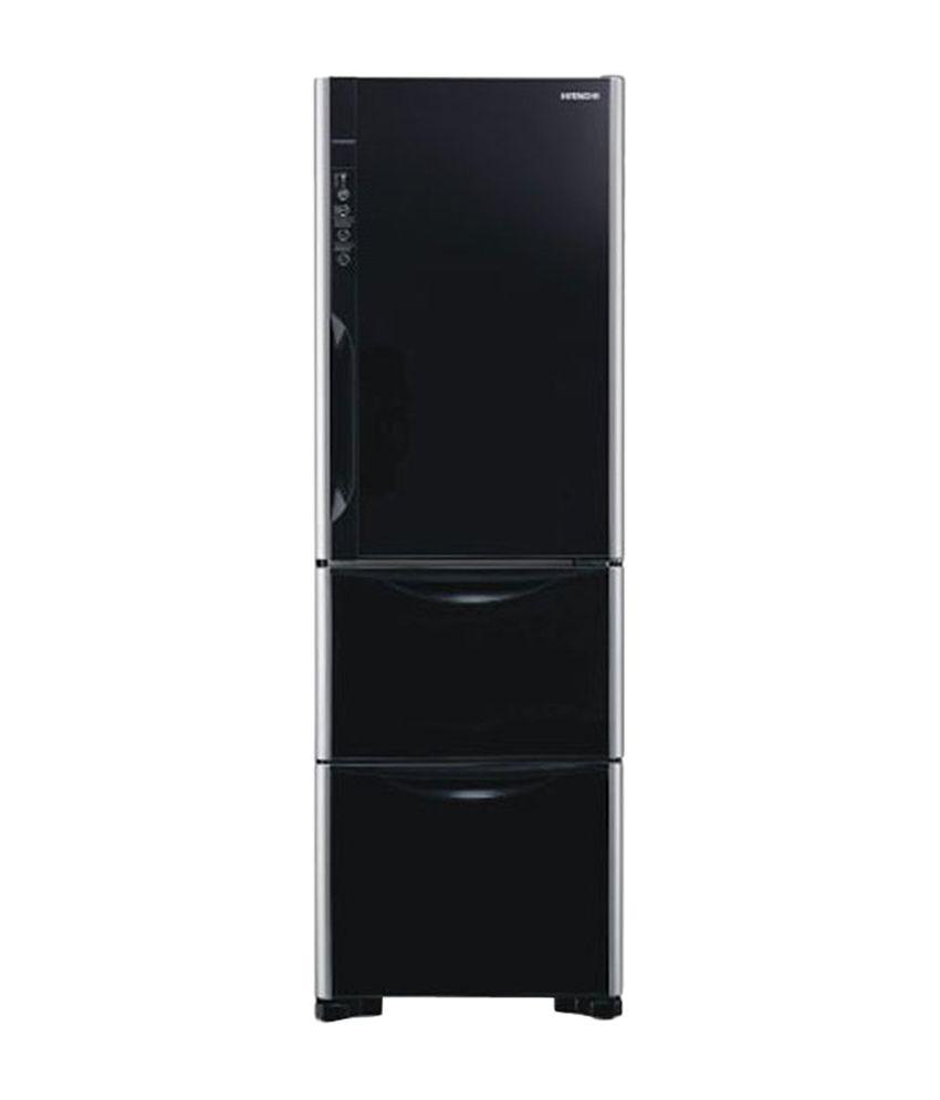 Hitachi 390 Litres R-SG37BPND-GBK Frost Free Refrigerator - Black
