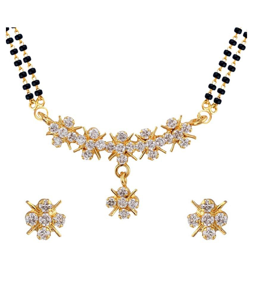 Parijaat Goldenn Alloy Mangalsutra Set
