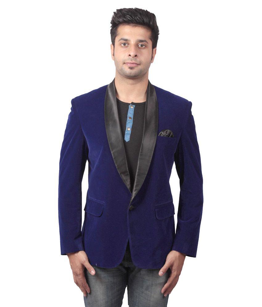 Shaurya-F Blue Festive Blazer