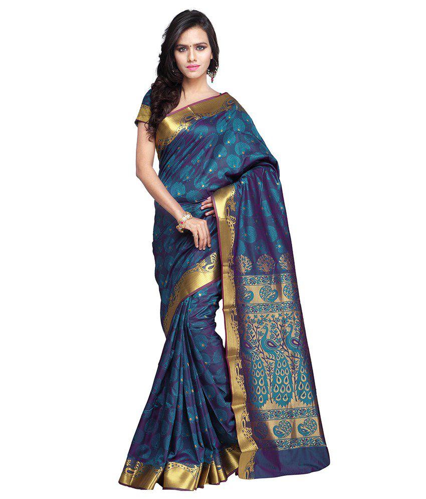 Saree Exotica Blue Silk Saree