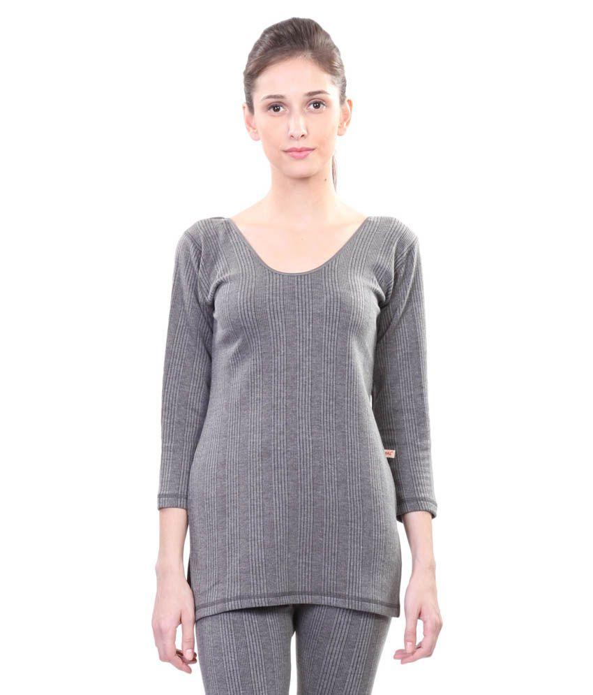 Vimal Winter King Grey Thermal Top For Women