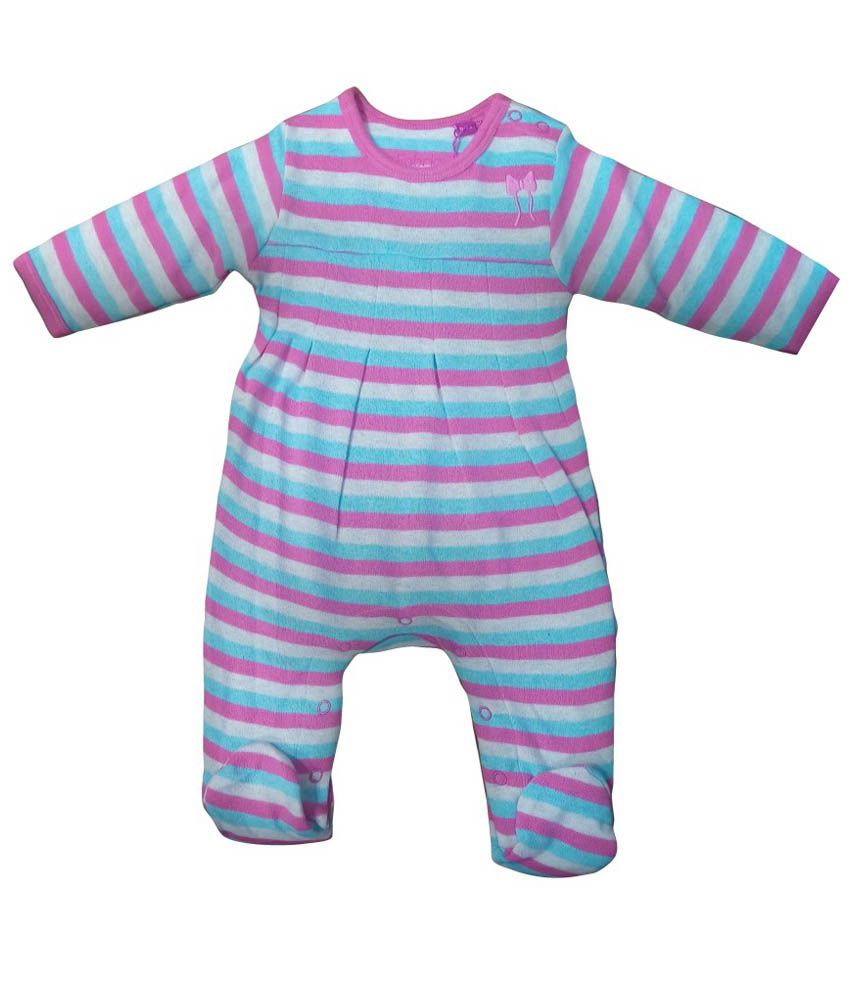 Instyle Multicolour Cotton Body Suit For Girls