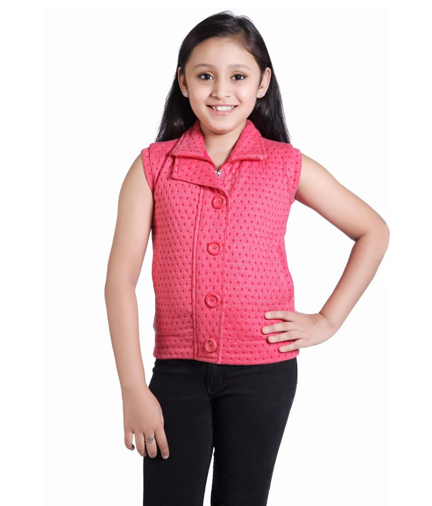 Just Clothes Pink Quilted & Bomber For Girls