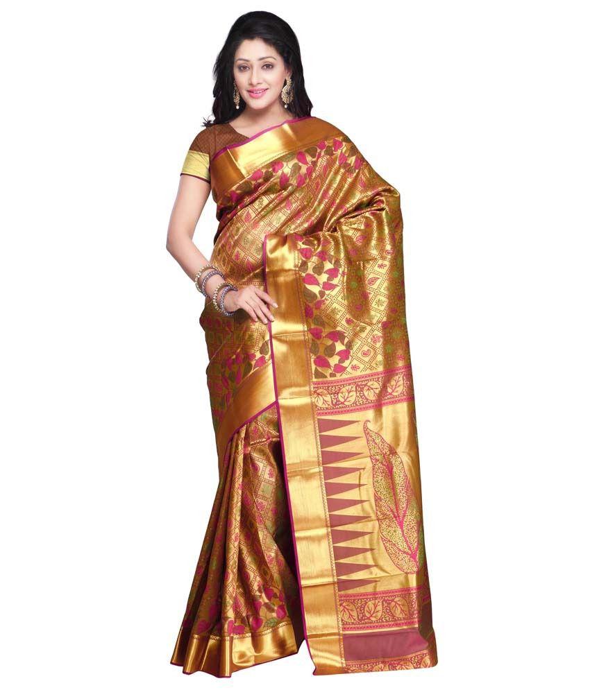 Varkala Silk Sarees Gold Art Silk Saree