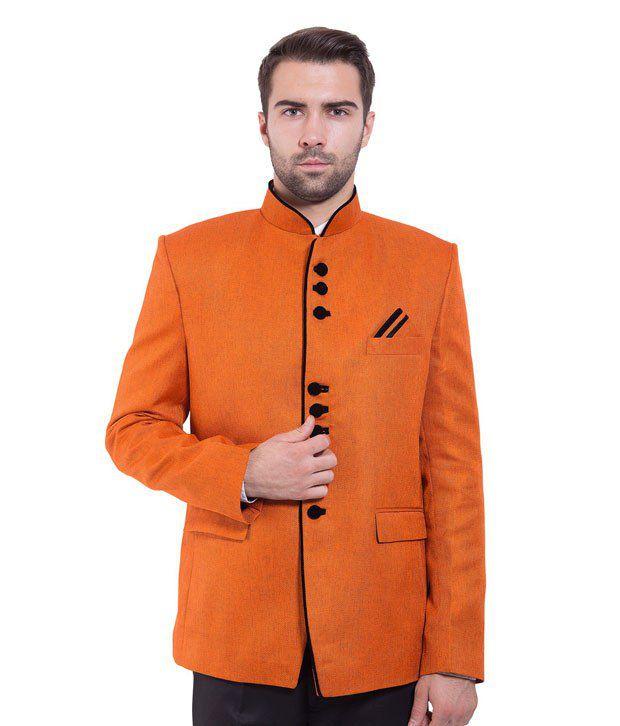 Wintage Orange Rayon Blazer