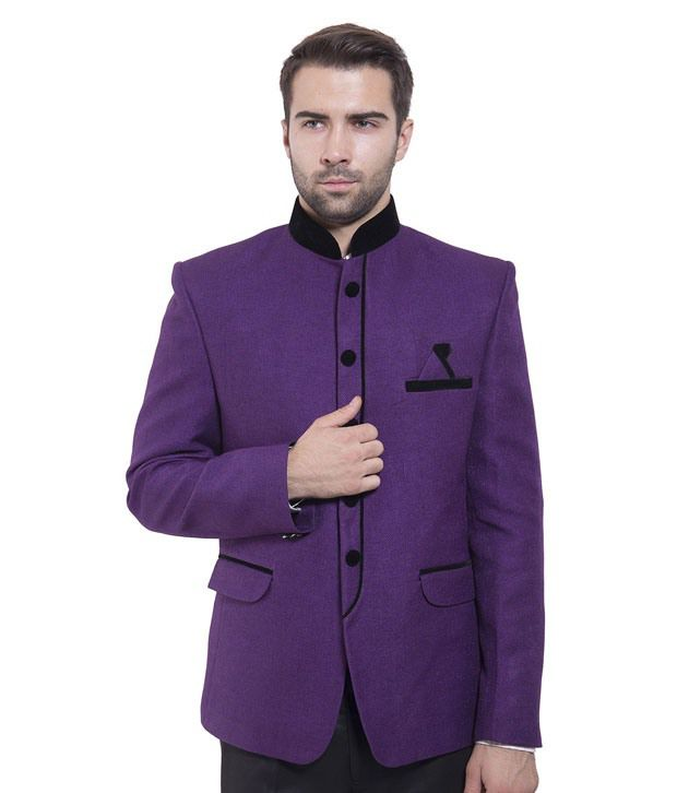 Wintage Purple Rayon Blazer