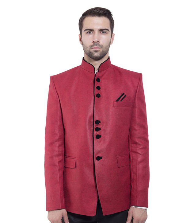 Wintage Red Rayon Blazer
