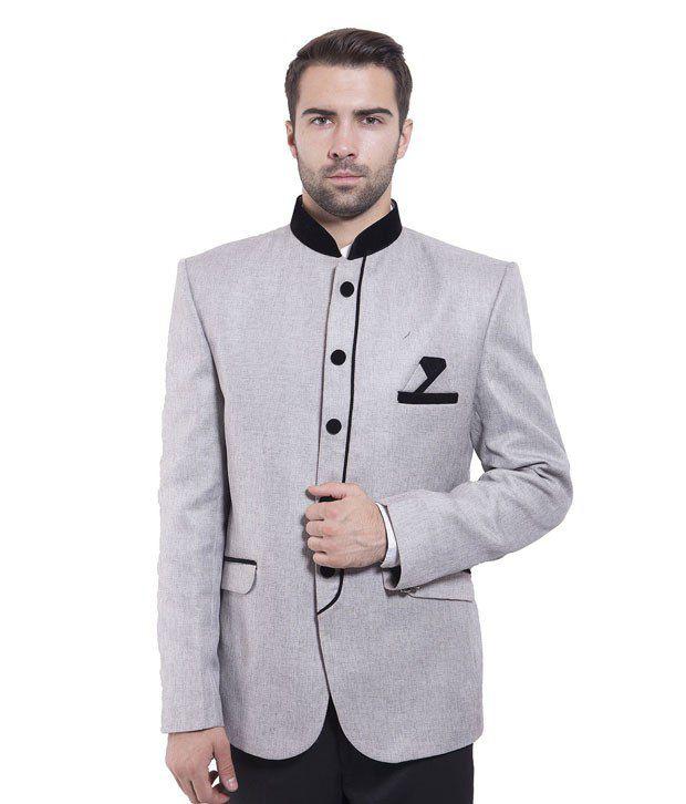 Wintage Silver Rayon Blazer