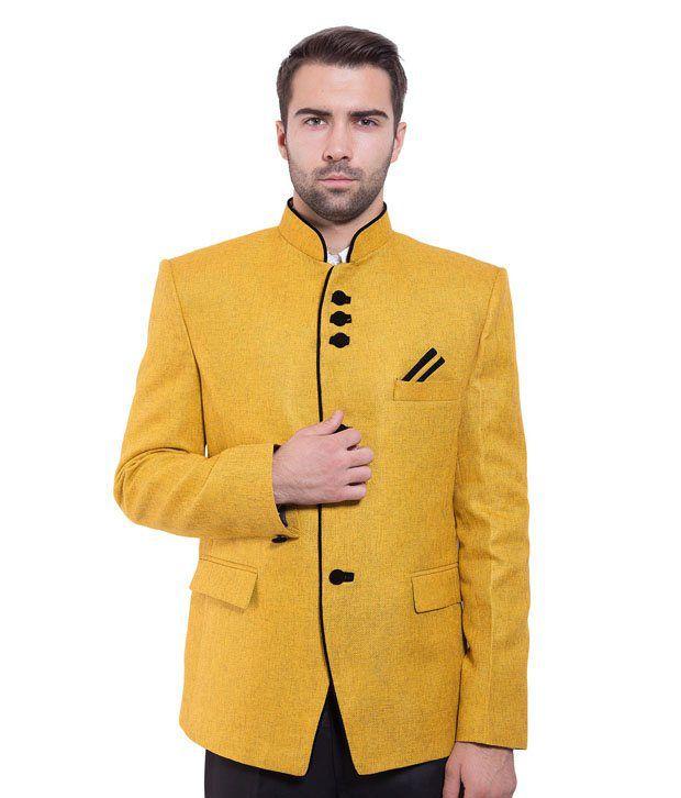 Wintage Yellow Rayon Blazer