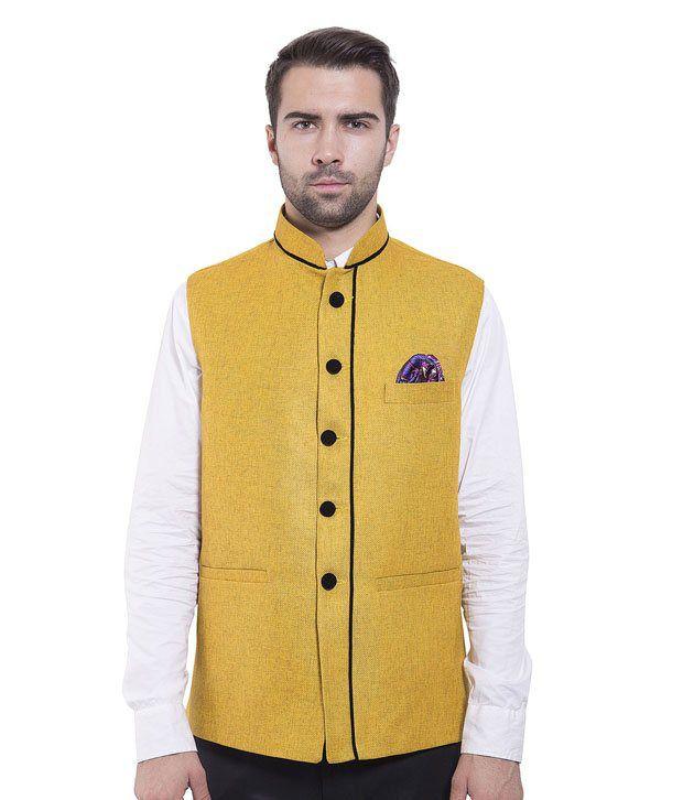 Wintage Yellow Rayon Waistcoats