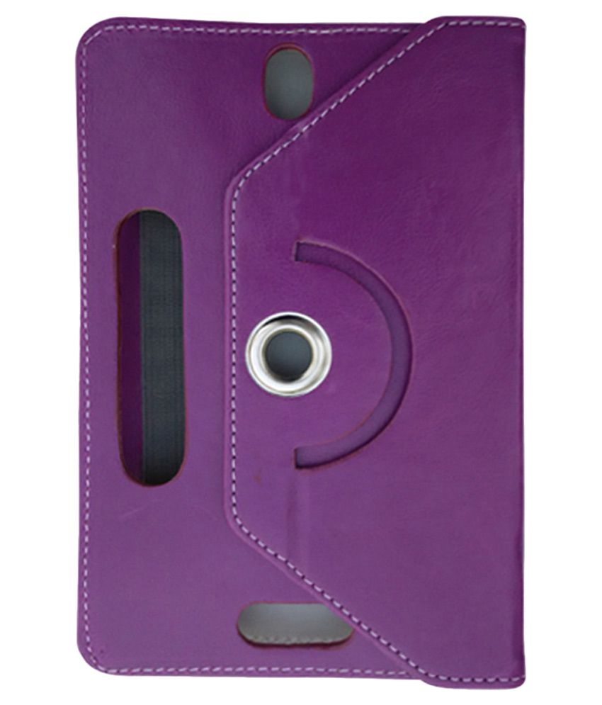 Fastway Rotating Flip Cover For HCL ME Connect 3G 2.0 Tablet - Purple