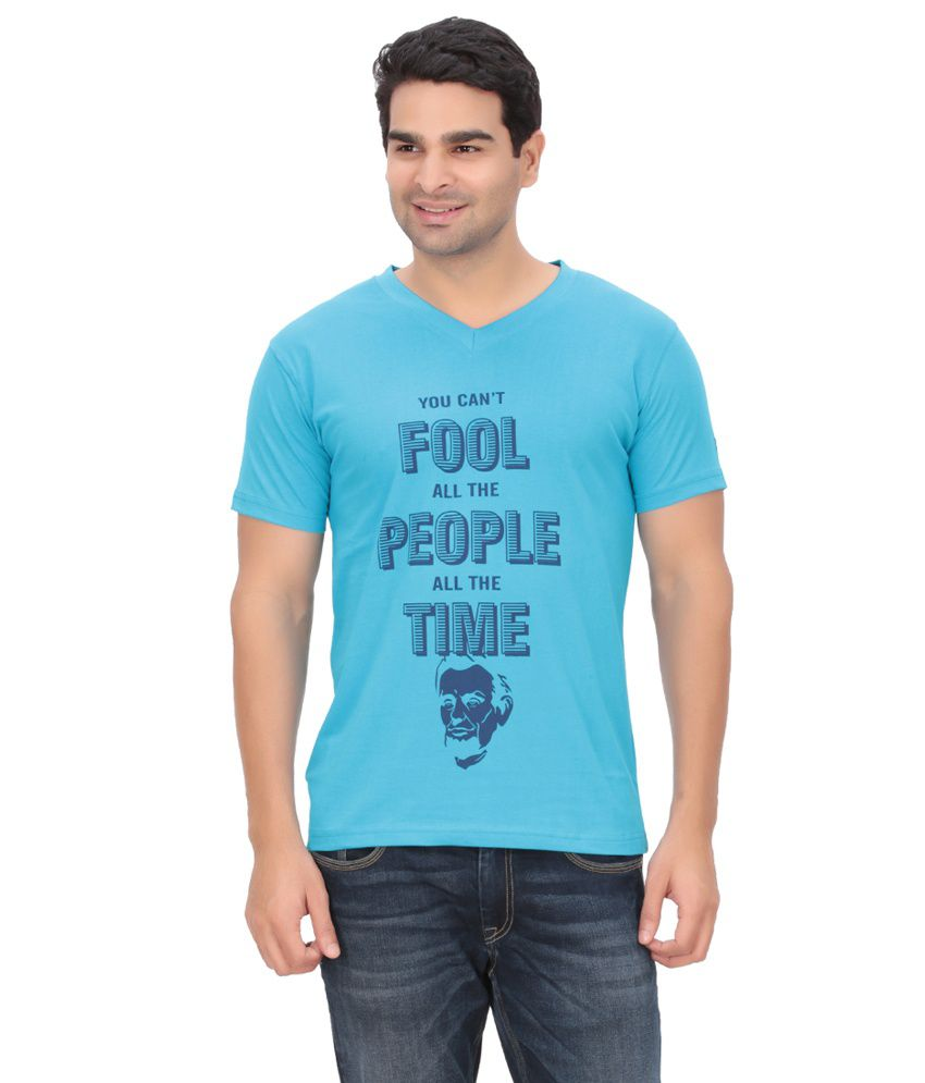 Indian Engineer Blue Cotton T-Shirt