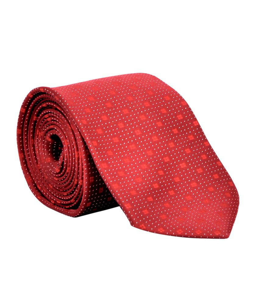 Silverbull Red Satin Casual Broad Ties For Men - Combo Of 3