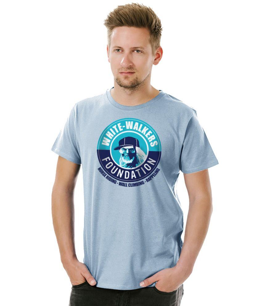 Socratees Men's White-Walker Foundation Cotton T-shirt-Light grey