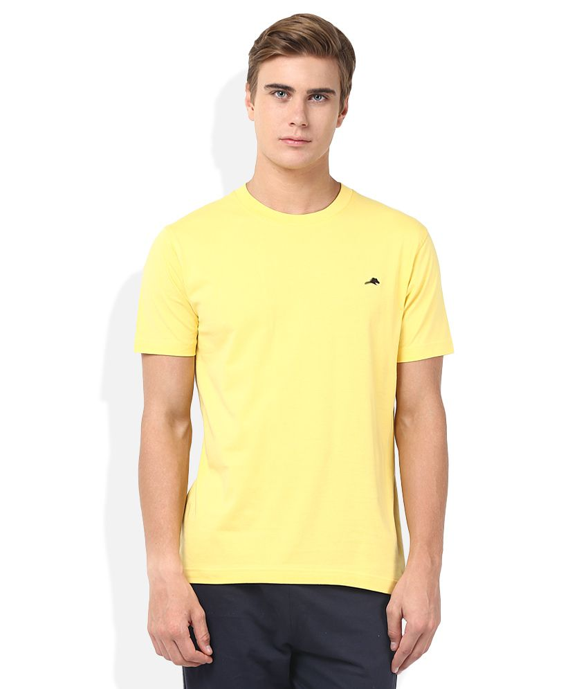 2go Yellow Round Neck T-Shirt