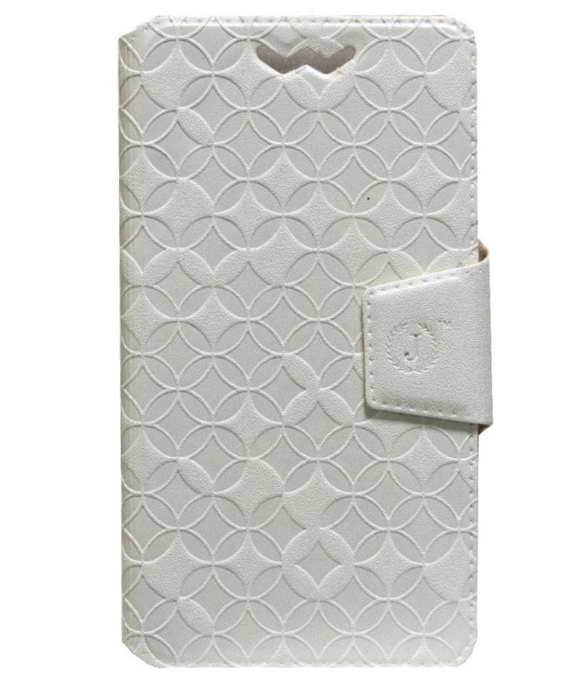 Jo Jo Flip Cover For Micromax Viva A72 - White