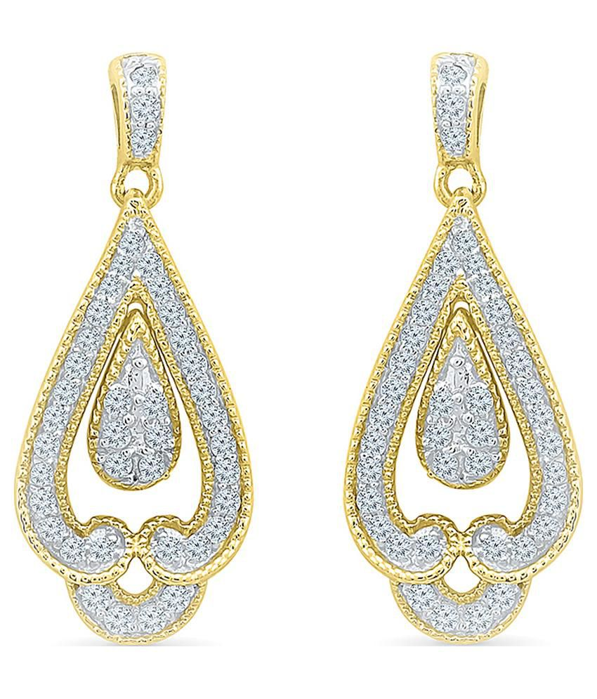 Radiant Bay 14kt Gold Round Danglers