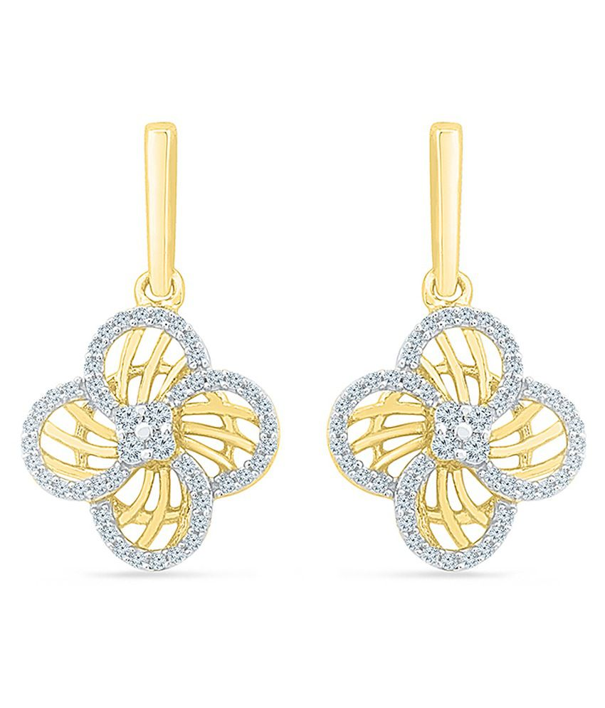 Radiant Bay 18kt Gold Round Drop Earrings