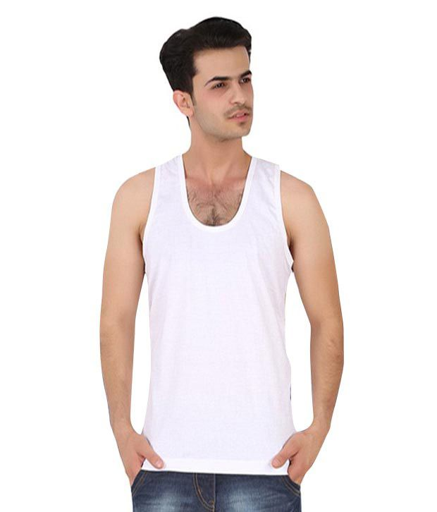 Saadgi Collections White Cottan Vest Pack of 4