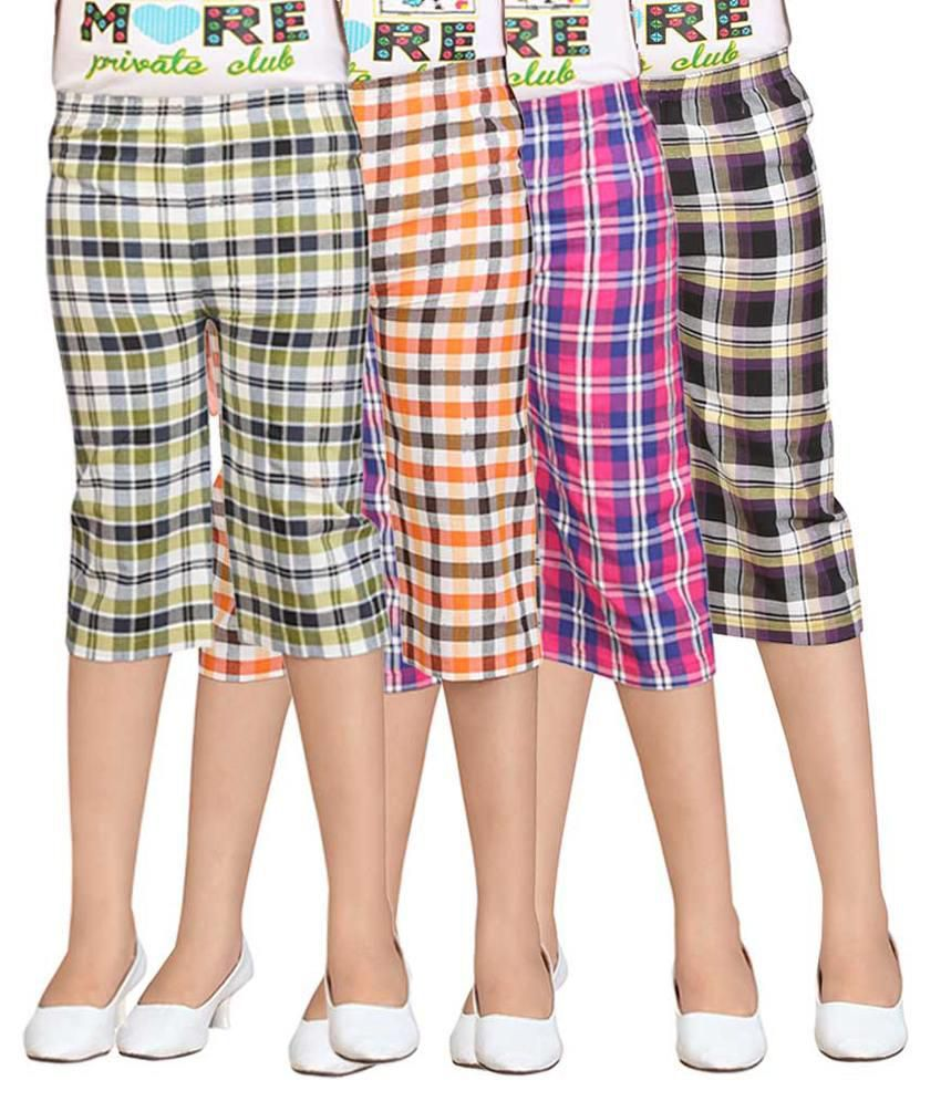Sini Mini Multicolour Capris - Pack of 4