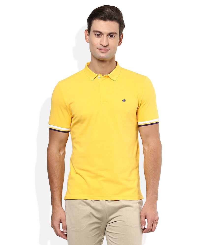 3a5526310 Giordano Yellow Solid Polo T Shirt - Buy Giordano Yellow Solid Polo T Shirt  Online at Low Price - Snapdeal.com