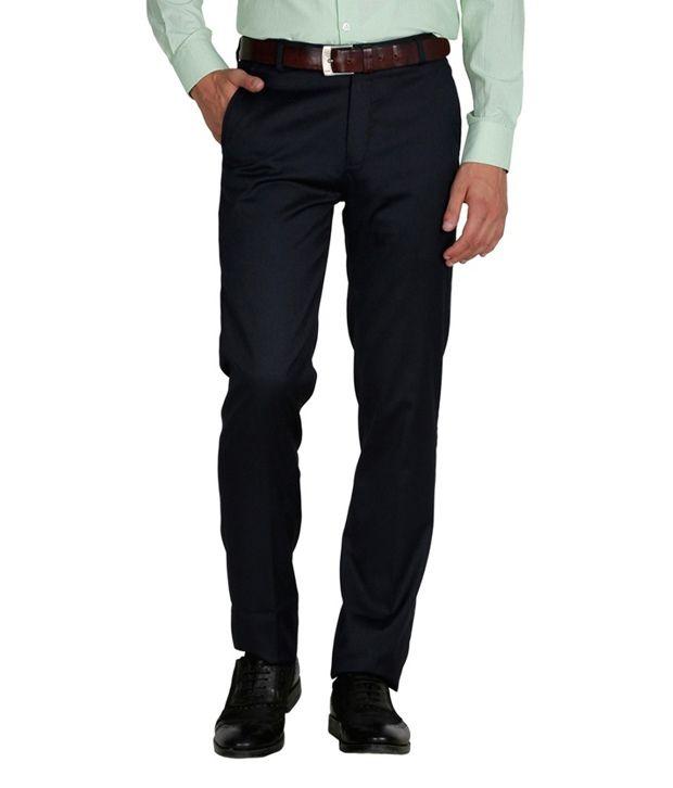 Mangalam Designer Blue Formal Trouser - Set Of 2
