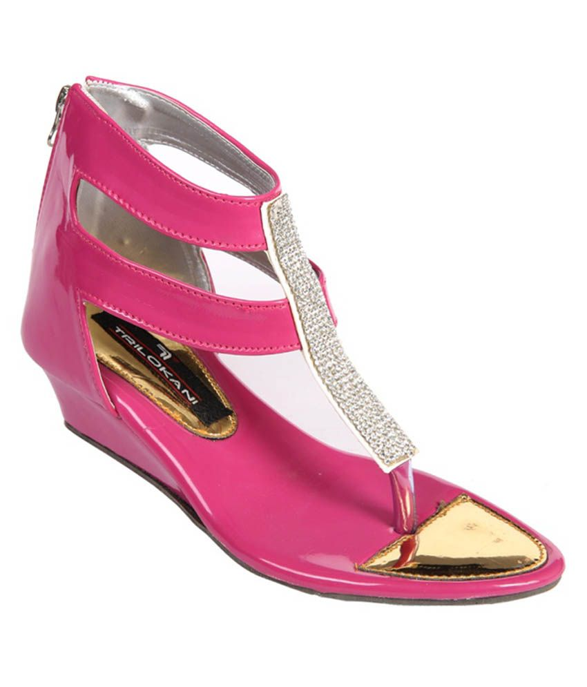 Trilokani Pink Sandals For Girls Snapdeal Price Women