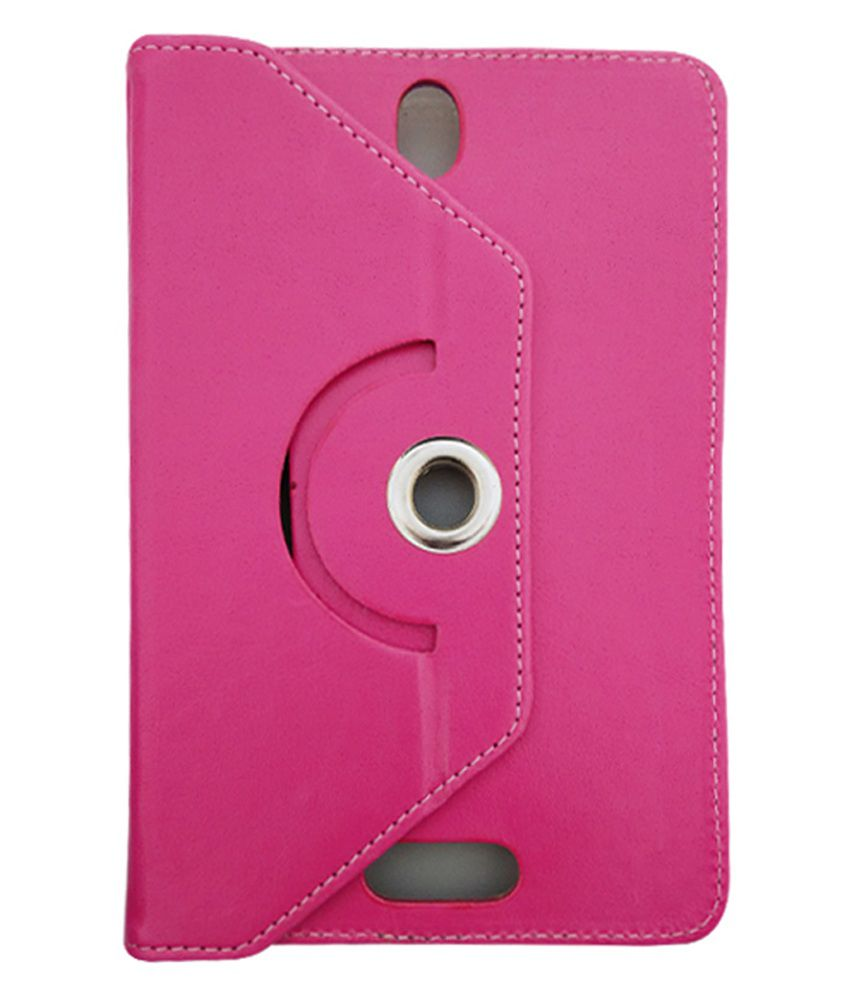 Fastway Flip Stand Cover For AOC 7 Inch 3g Calling Tab PC -Pink