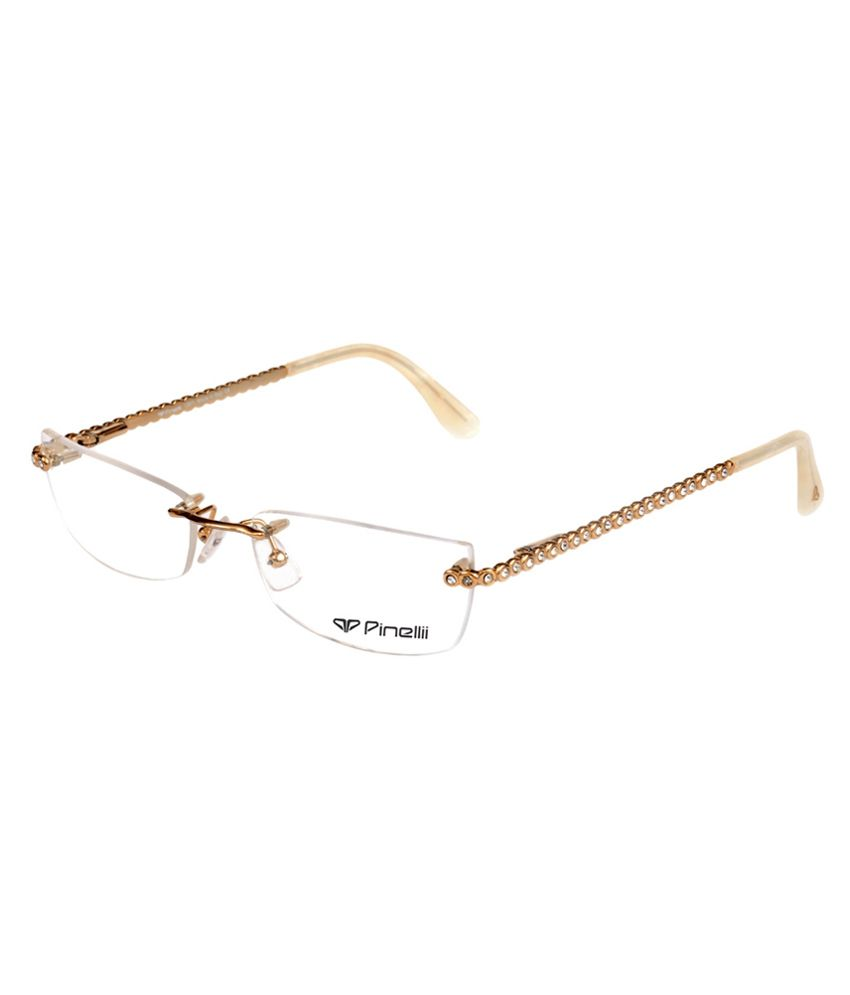66846f88abf Pinellii Golden Rectangle Rimless Eyeglasses Frame - Buy Pinellii Golden Rectangle  Rimless Eyeglasses Frame Online at Low Price - Snapdeal