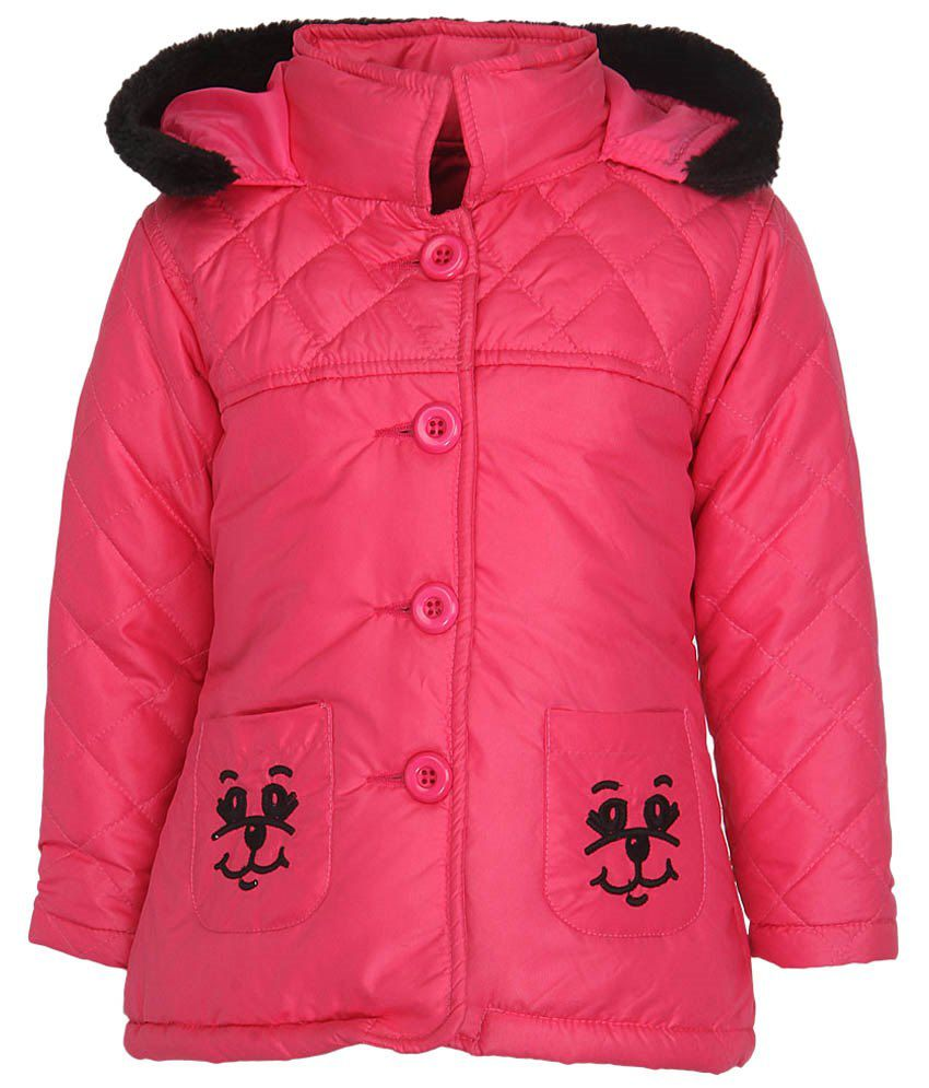 Stop by Shoppers Stop Pink & Black Synthetic Jacket