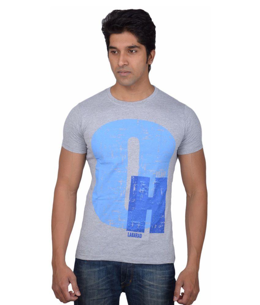 Tavara Grey Cotton T Shirt