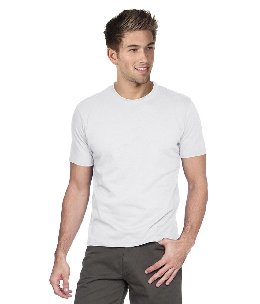 Alangar White Cotton T-shirt