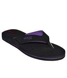 Health Line Purple Flip Flops