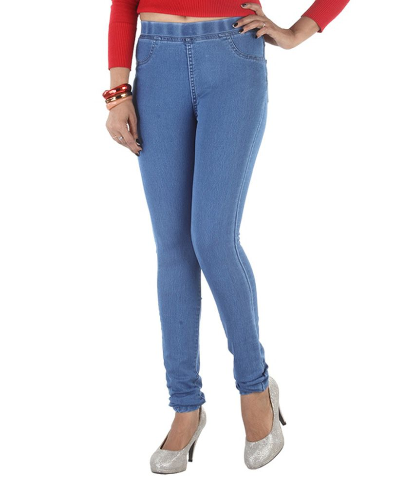 58bd71b10b7587 Buy Focus Blue Denim Jeggings Online at Best Prices in India - Snapdeal