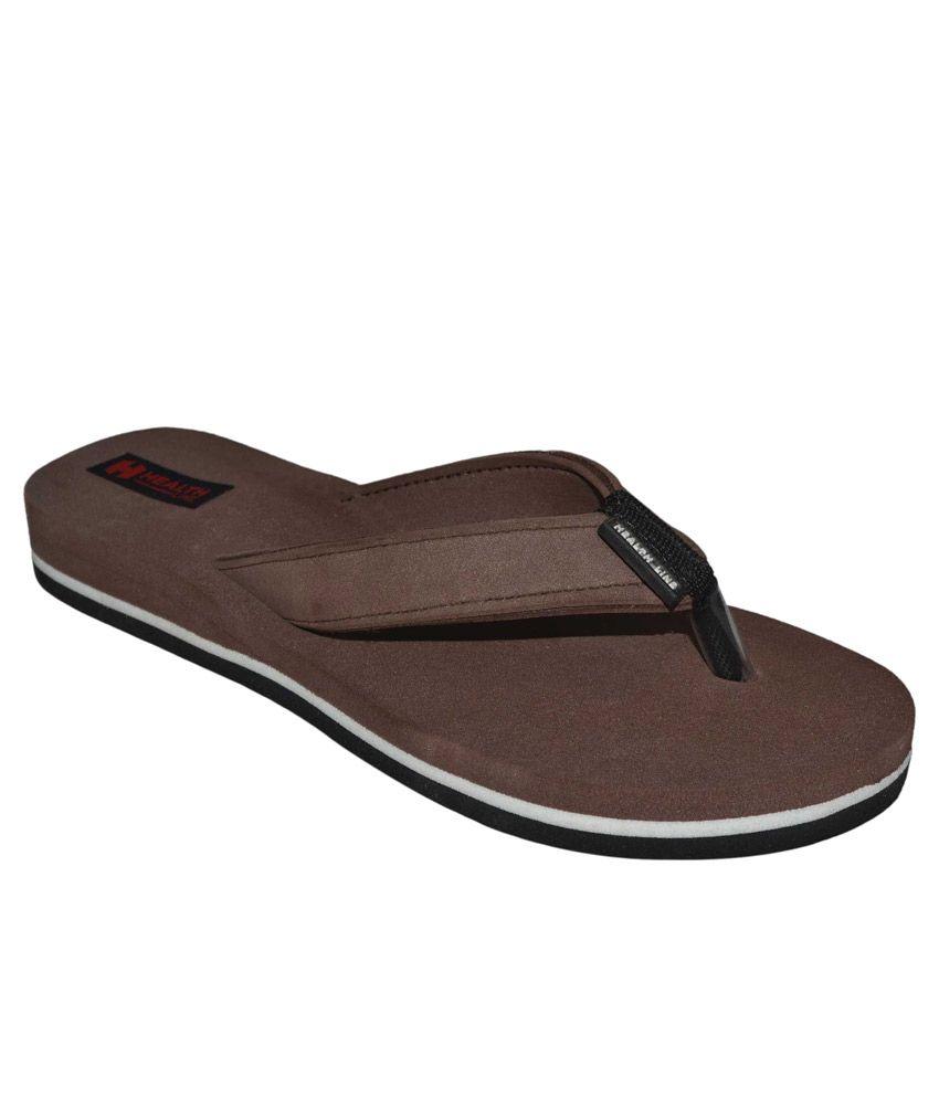 Health Line Brown Flip Flops