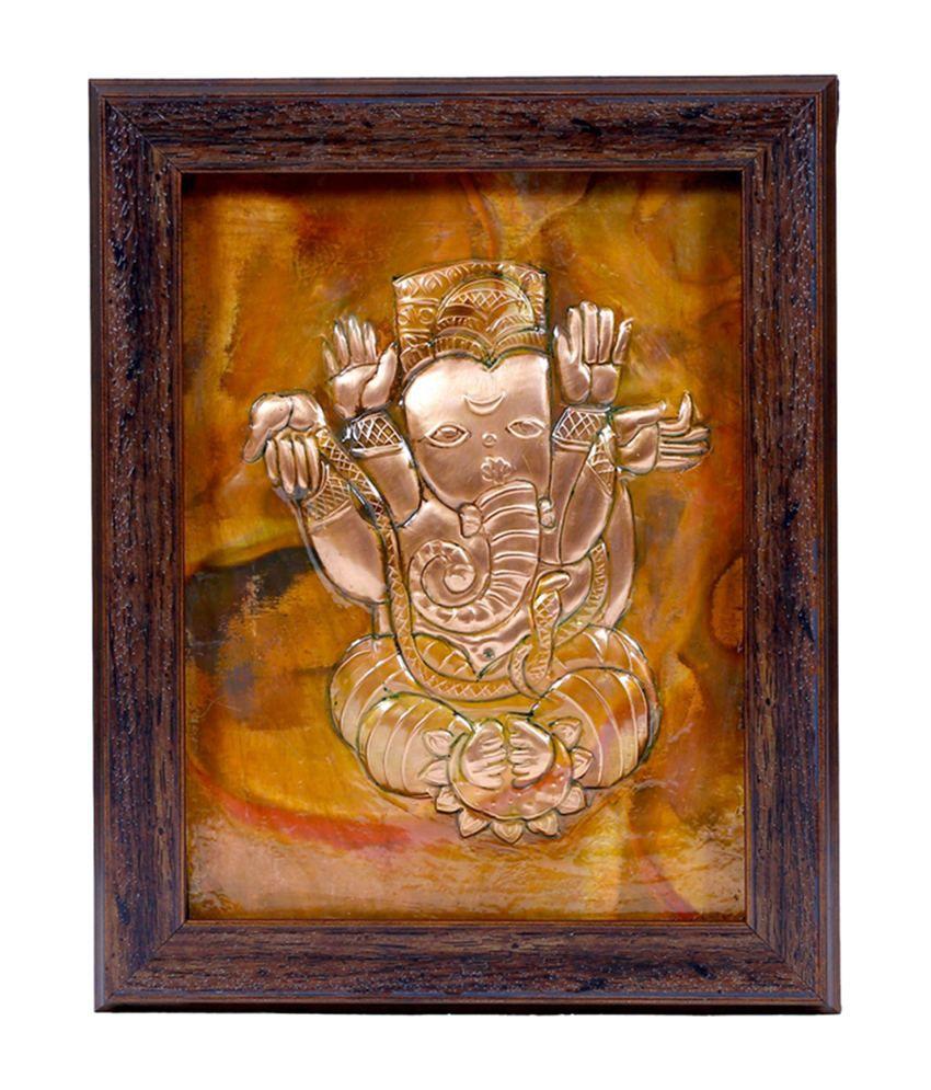 Manjusha Decorative Siddhidata Ganesh in Fibre Frame
