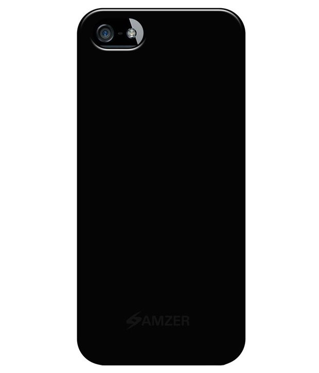 75f27e00d0 Amzer Back Cover Case For Apple Iphone 5/5S,Iphone Se - Black - Plain Back Covers  Online at Low Prices | Snapdeal India