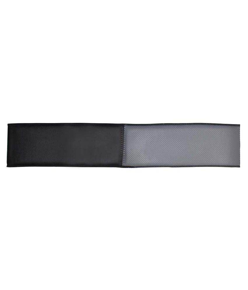 Grey Car Foot Mats For Toyota Etios Liva Buy: Autostark Grey & Black Stitchable Car Steering Cover M