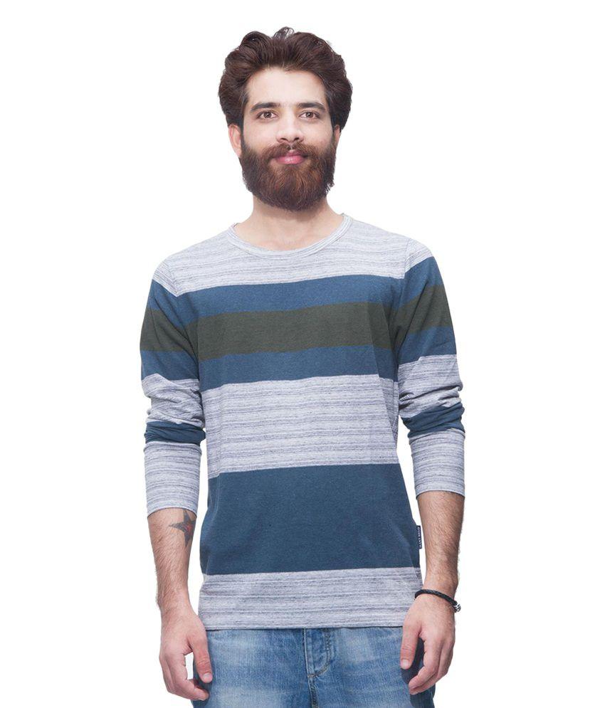 Avoir Envie Multicolour Cotton Blend Round Neck T-shirt