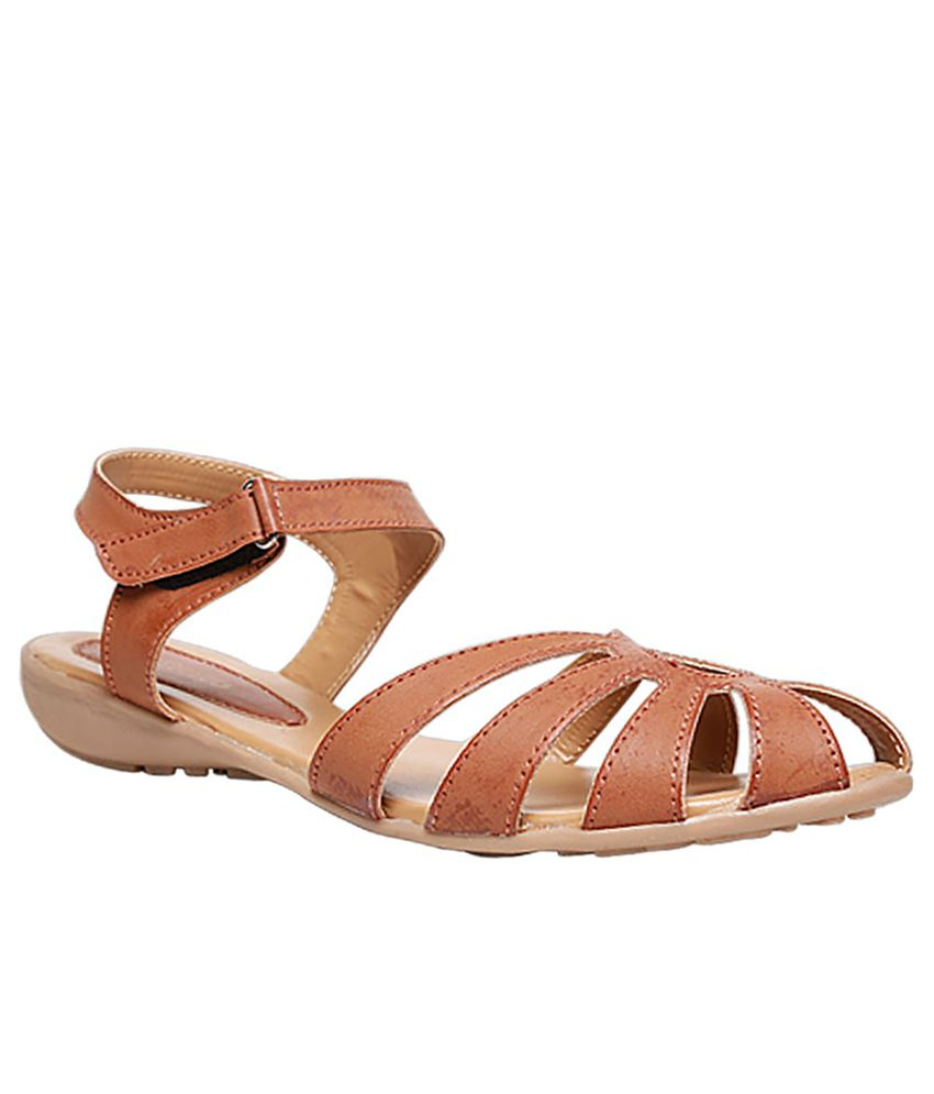 4d9a98be90c3 Bata Brown Flat Sandals Price in India- Buy Bata Brown Flat Sandals Online  at Snapdeal