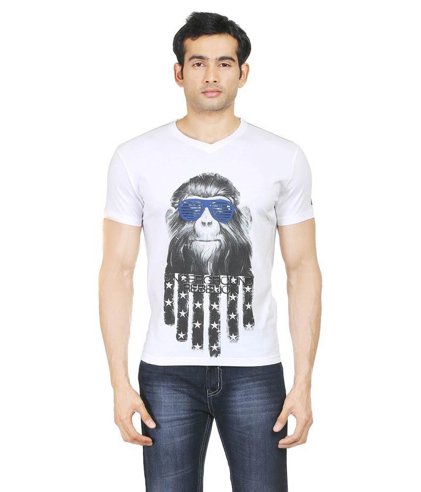 Blumerq White 100 Percent Cotton T-Shirt
