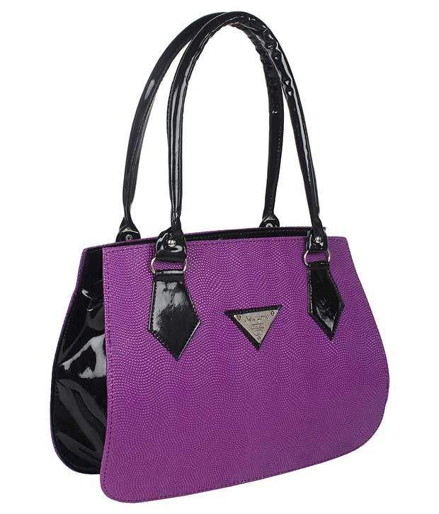jewel fuel Purple Faux Leather Shoulder Bag
